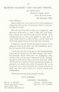 St Dunstan's Letter