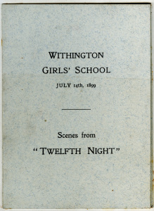 Twelfth Night 1899 programme