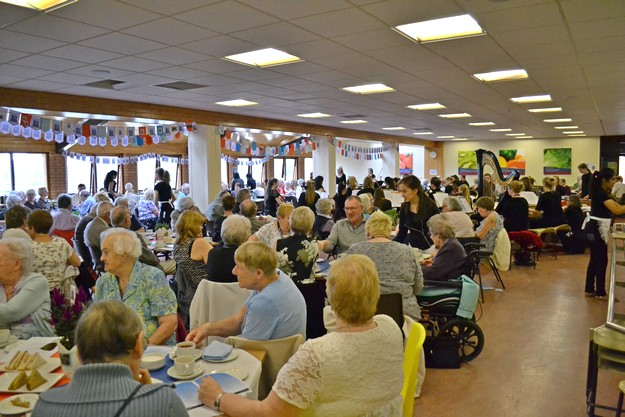 Lunch and a concert for local old people