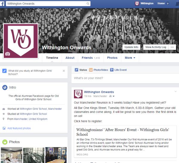 Withington Onwards Facebook