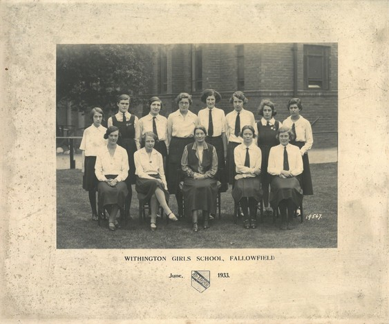 A class photo from 1933. Vera is on the back row, second from the right.