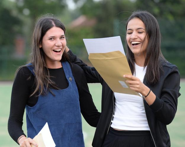 Pictures by Howard Walker. 07970 809718.18th July 2016.Withington Girl's School. Manchester A-Level Results.Picture shows