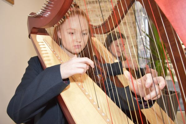 Harp playing at Withington