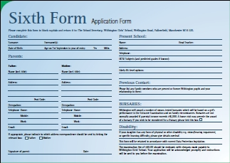 Sixth Form Application Form